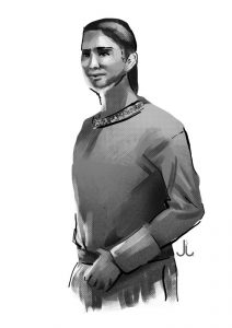 """Zeichnung """"Ardeija"""" von Jennifer S. Lange"""